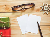 Papers and pen for writing New Year's Resolutions