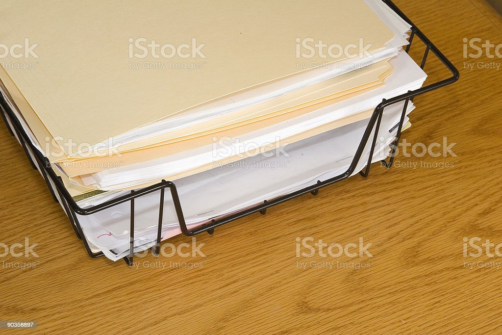 Papers Angle royalty-free stock photo