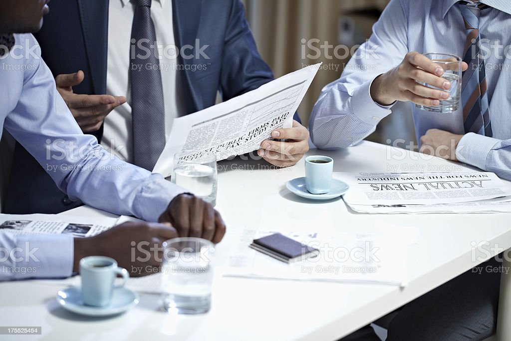 Papers for businesspeople royalty-free stock photo