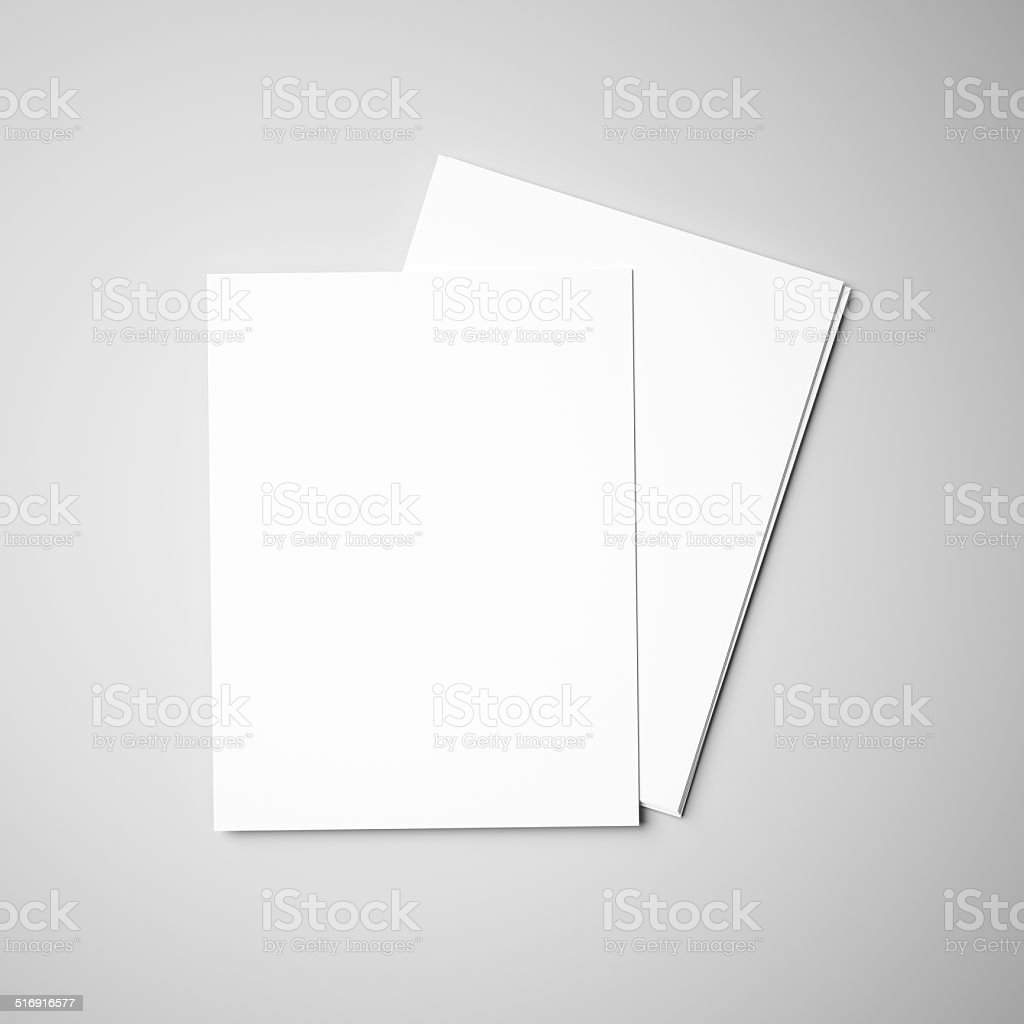 Papers on gray background stock photo