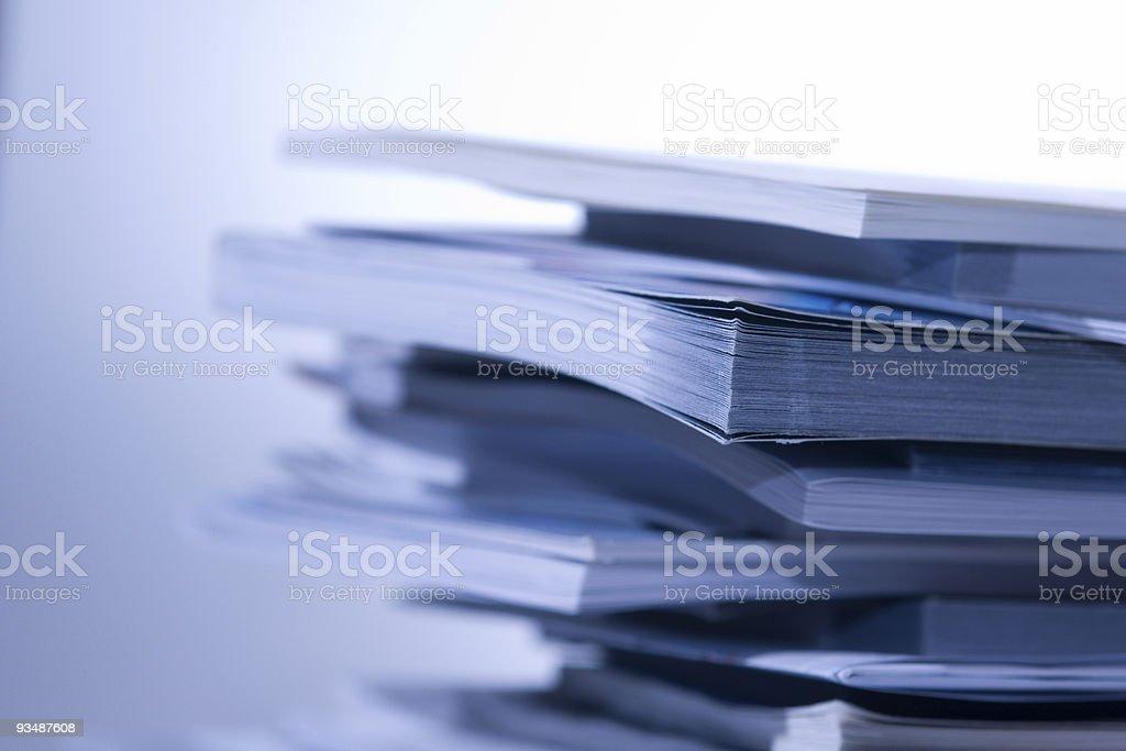 Papers/Books Horizontal stock photo