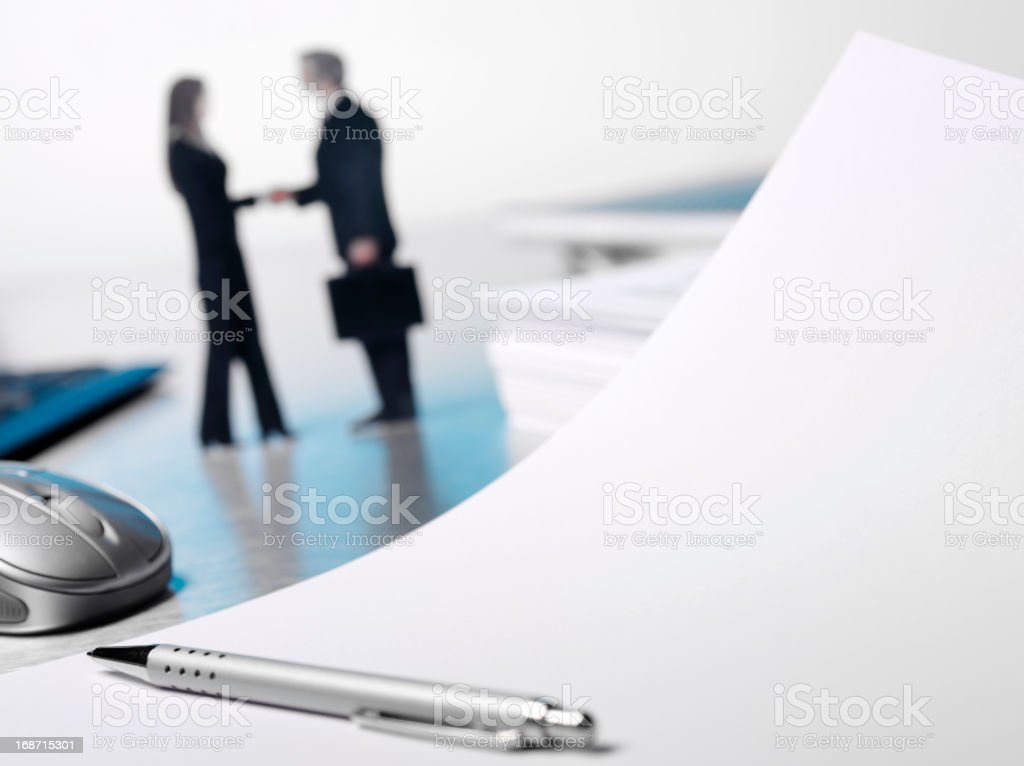 Paperwork Agreement on the Office Desk royalty-free stock photo