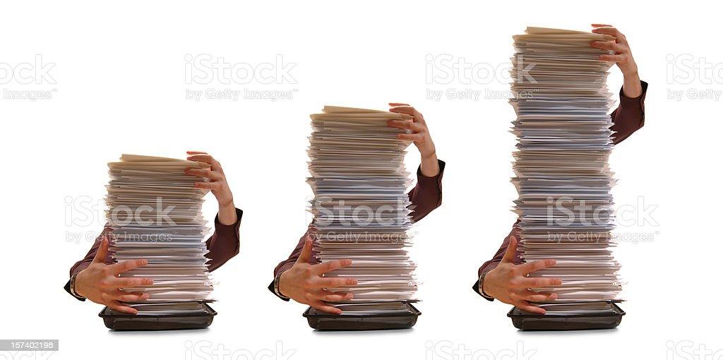 paperwork bar chart royalty-free stock photo