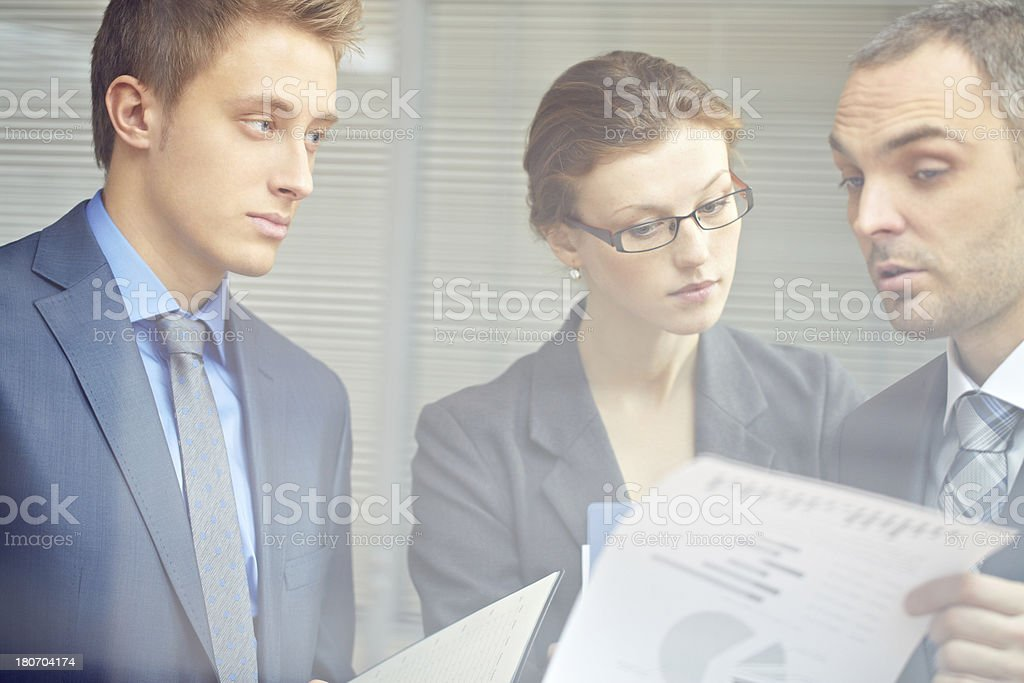 Paperwork in team royalty-free stock photo