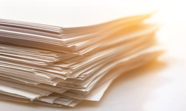 Paperwork. Pile of paper documents on background, close up stack stock pictures, royalty-free photos & images