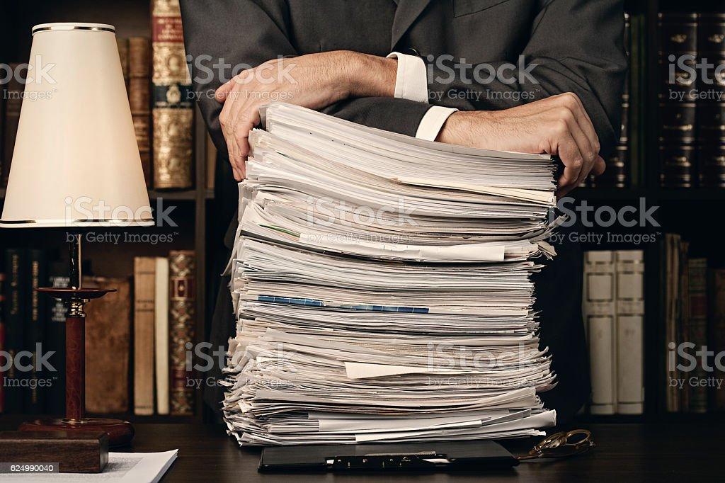 Paperwork stock photo