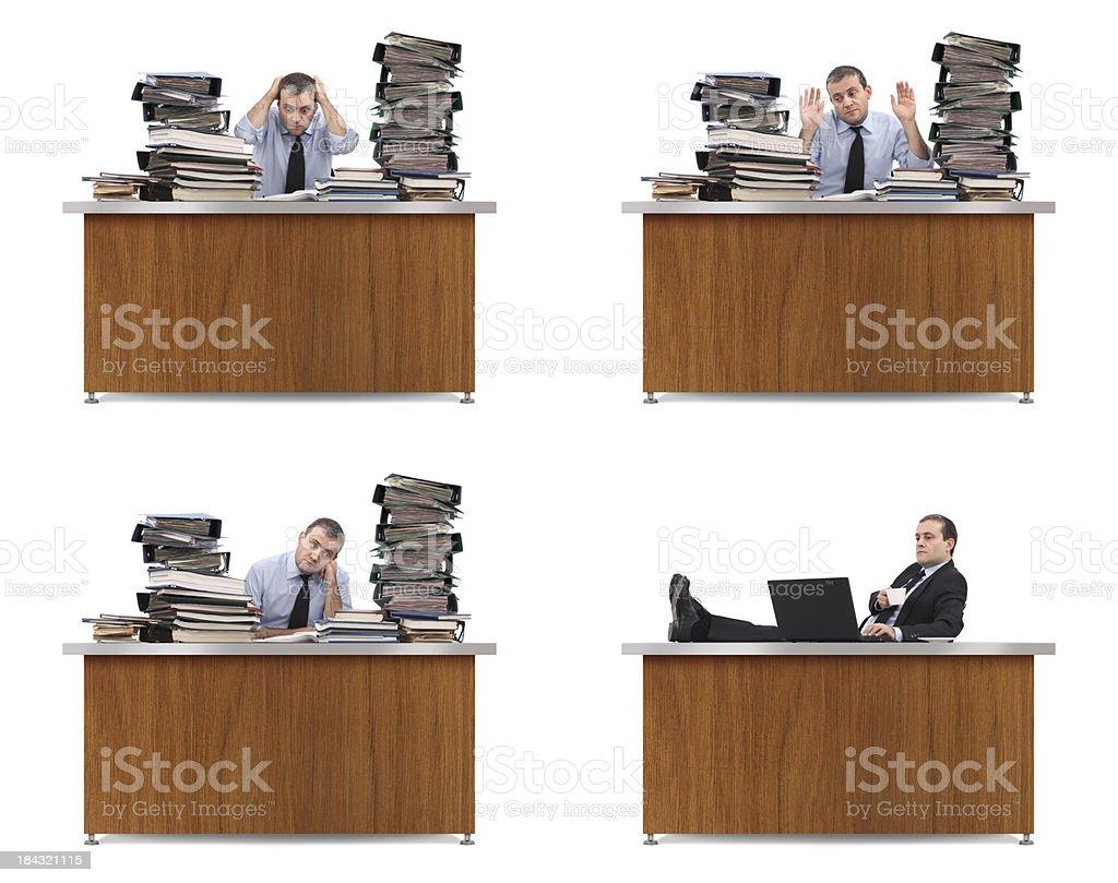 Paperwork vs. Computer royalty-free stock photo