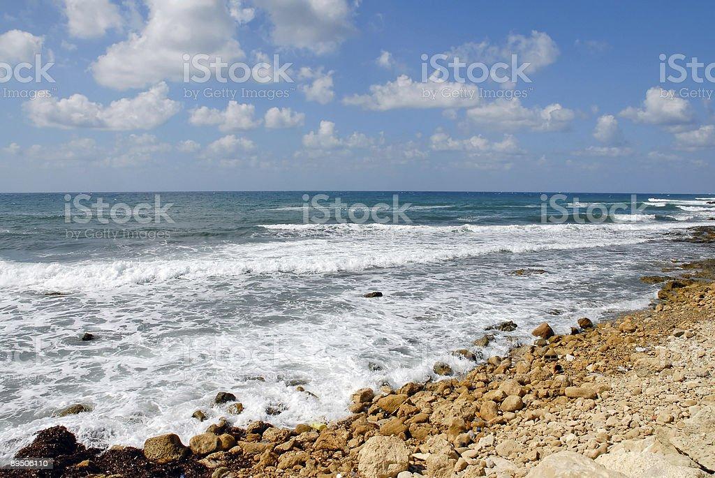 Plage de Paphos photo libre de droits