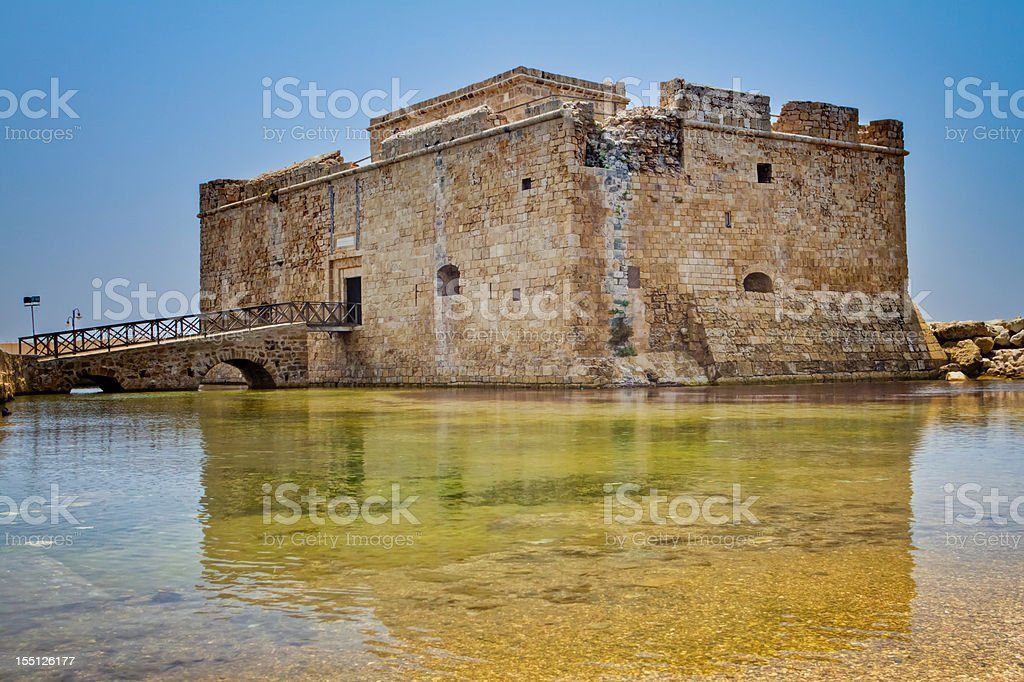 Paphos Castle (Cyprus) royalty-free stock photo