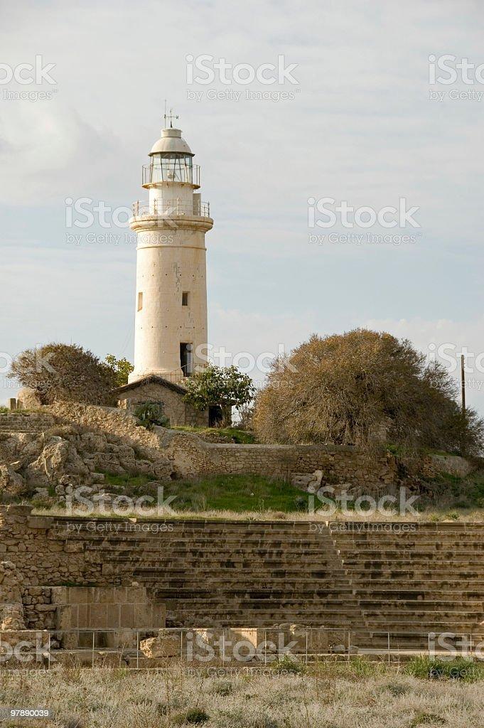 Paphos Lighthouse royalty-free stock photo