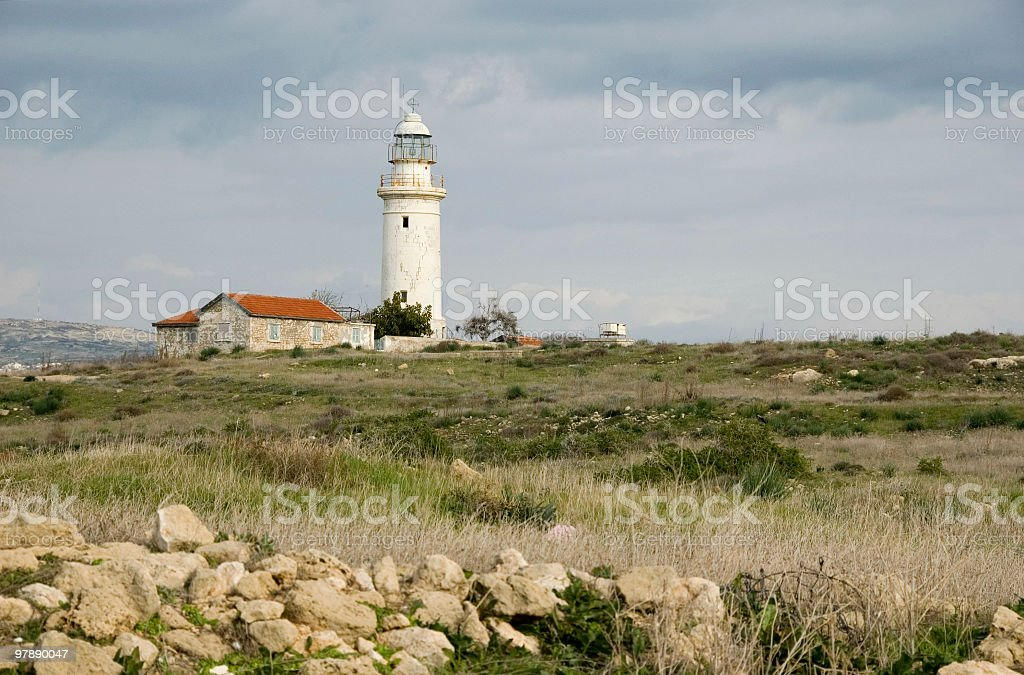 Paphos Lighthouse royalty-free stock photo