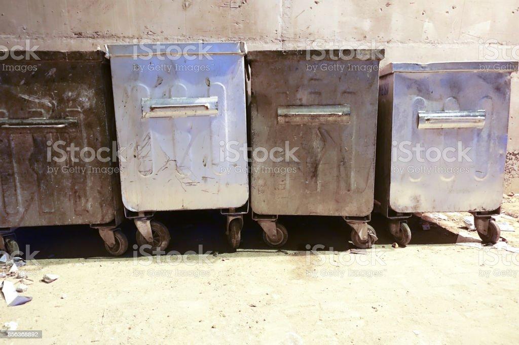 Papierkorb Abfall stock photo