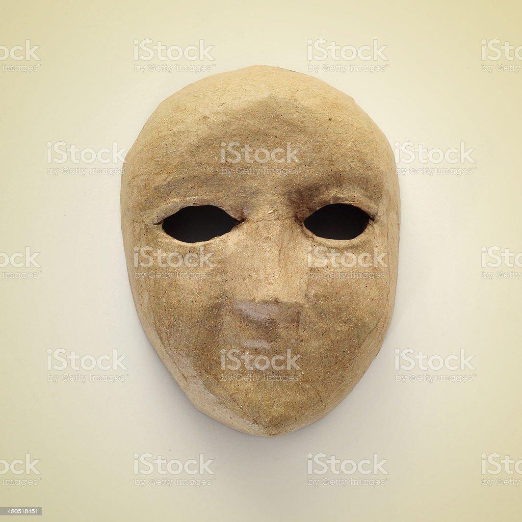 papier-mache mask stock photo