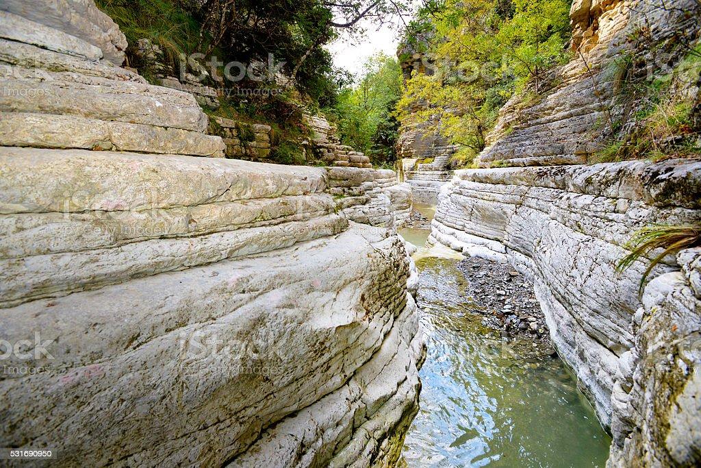 Papingo pools, Greece stock photo