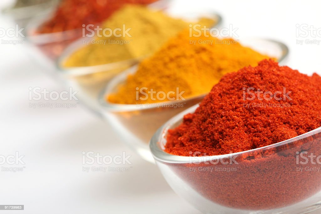 Paprika in a glass bowl royalty-free stock photo
