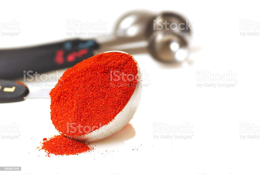 Paprika in a measuring spoon royalty-free stock photo