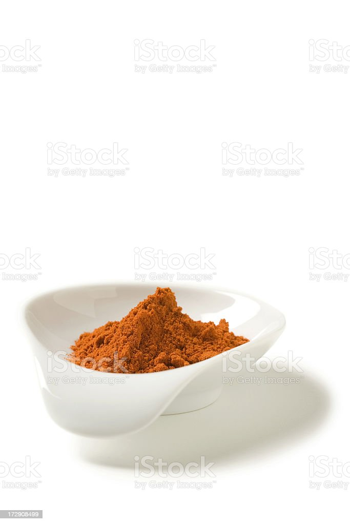 Paprika in spice dish royalty-free stock photo