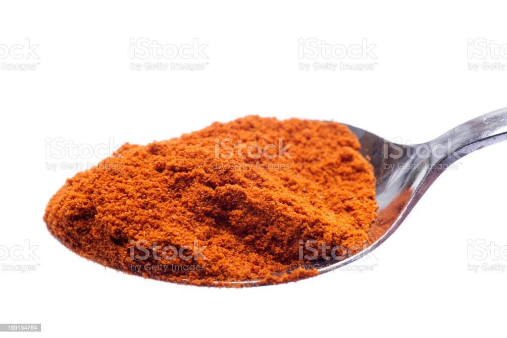 Paprika Spoonful Isolated on White royalty-free stock photo