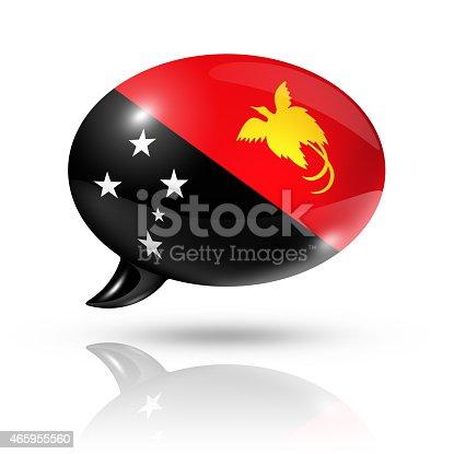 istock Papua New Guinea flag speech bubble 465955560