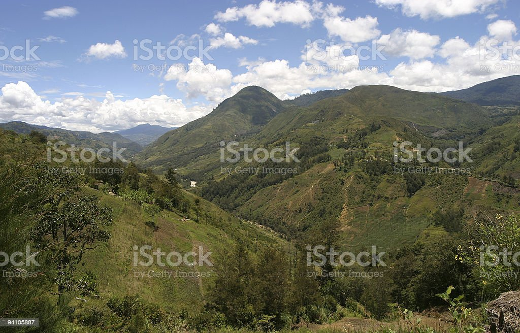 Papua New Guinea highlands stock photo