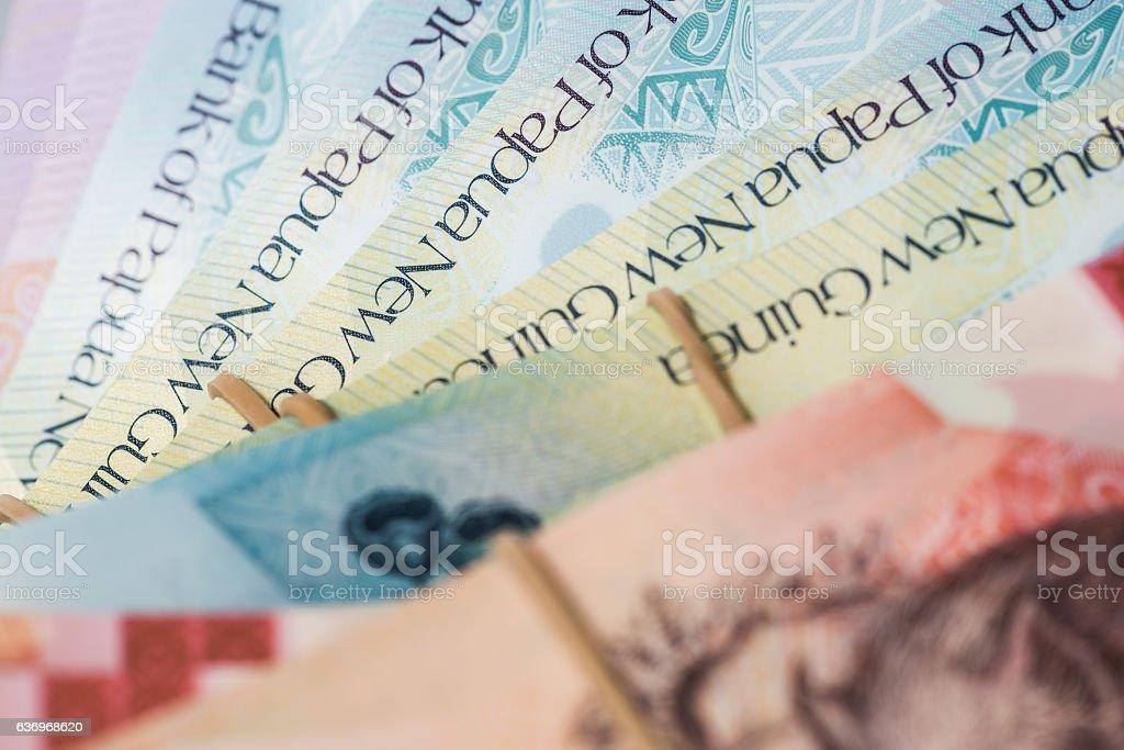 Papua New Guinea Kina Banknotes PGK stock photo