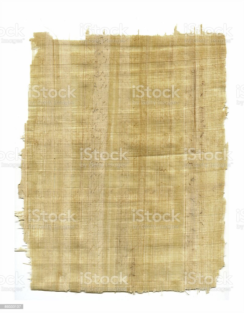 Papyrus Fragment stock photo