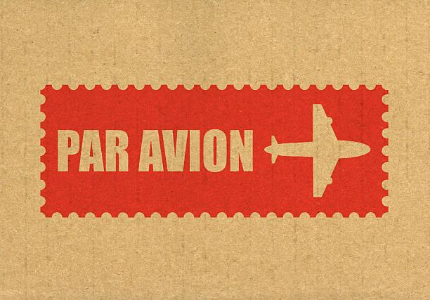 Par avion stock photo