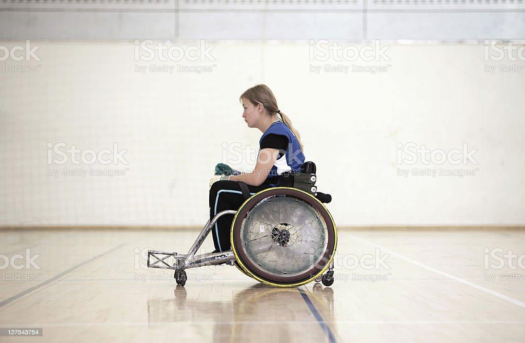 Para jugador de rugby Para silla de ruedas - foto de stock