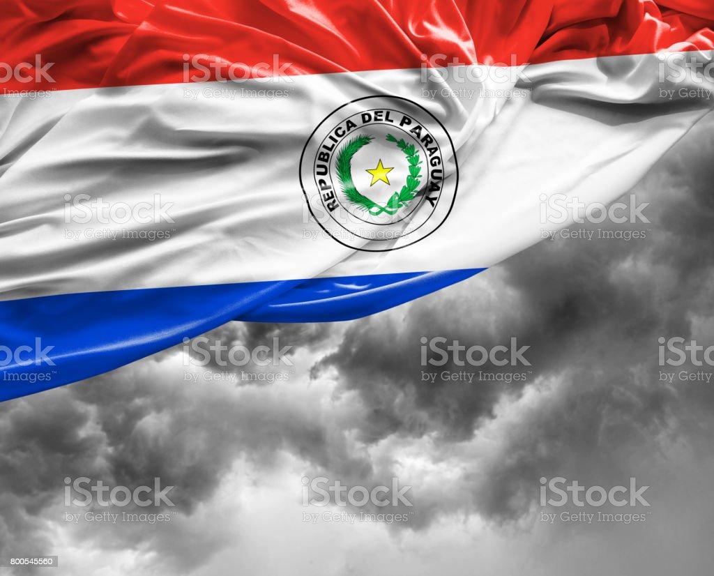 Bandera de Paraaguayan en un mal día - foto de stock
