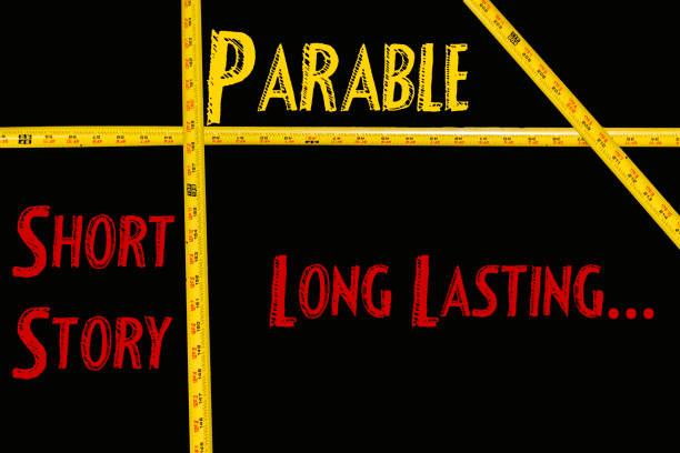 parabel-poster - kurzgeschichten stock-fotos und bilder