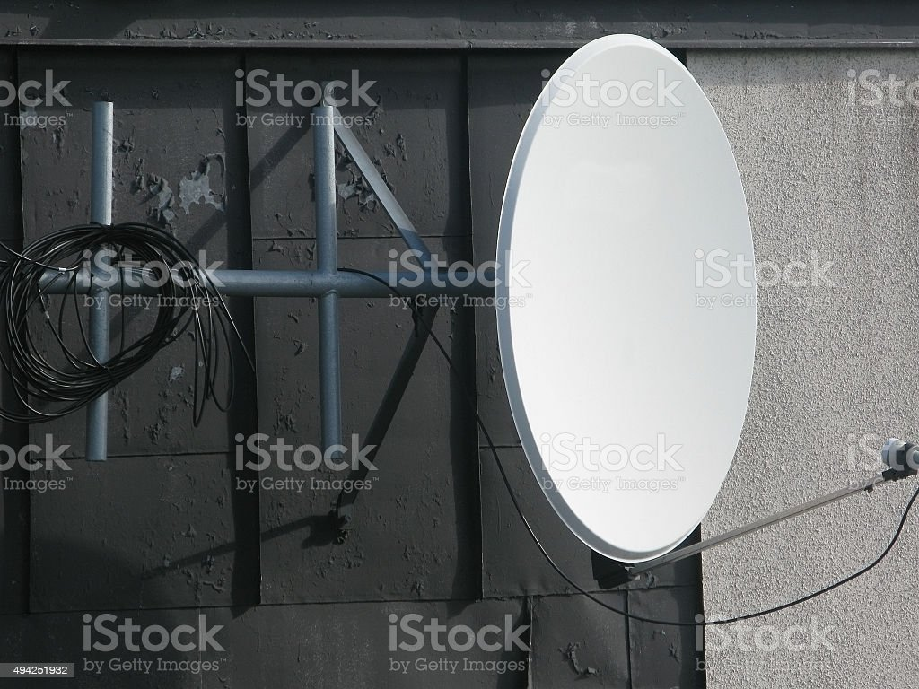 Parabol antenna stock photo