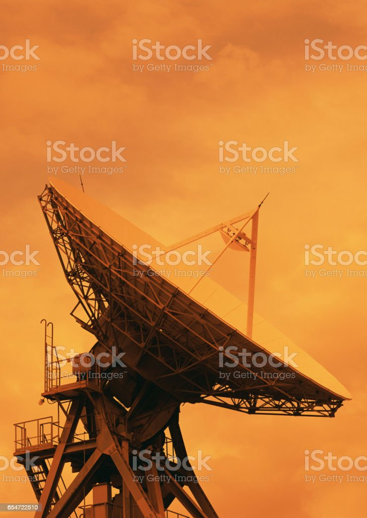 Parabolic antenna stock photo