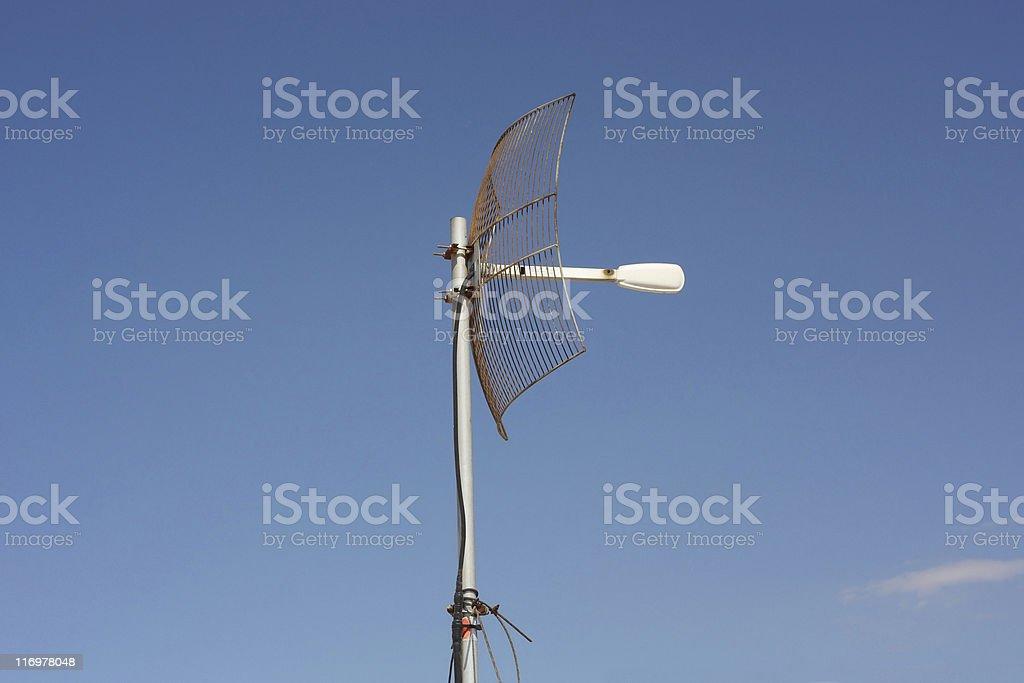 Parabolic Grid Antenna stock photo