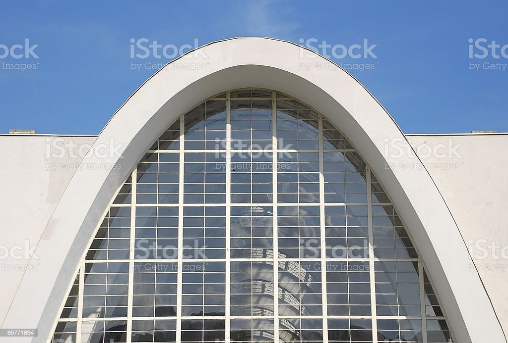 Parabolic hall royalty-free stock photo