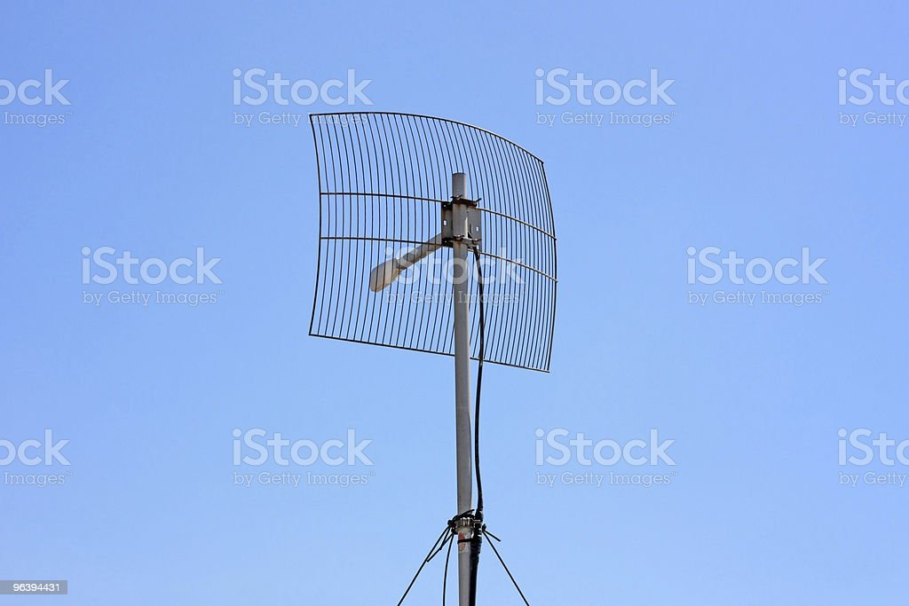 Parabolic Wireless Antenna royalty-free stock photo