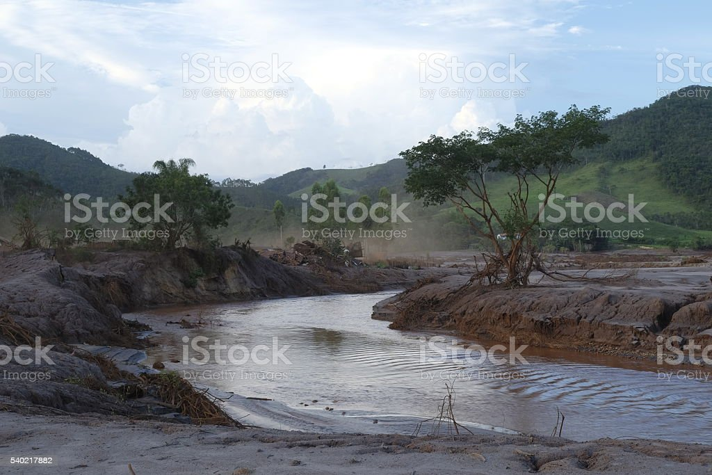 Paracatu, Mariana, após o desastre ambiental stock photo