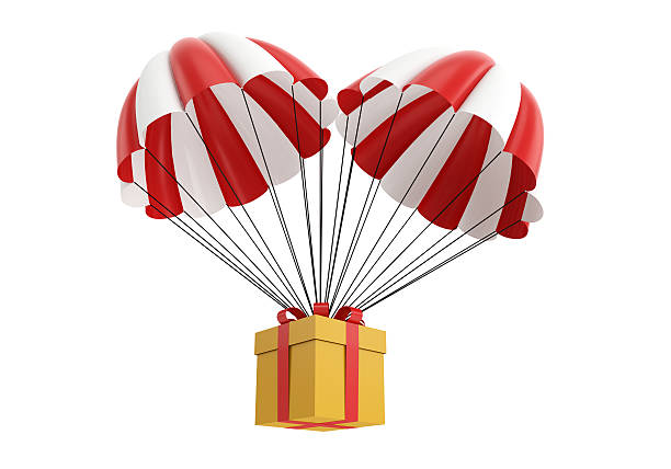 parachute box stock photo