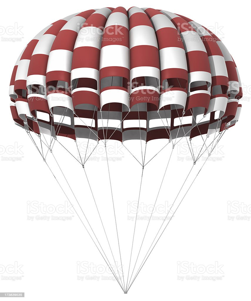 Parachute Isolated on white royalty-free stock photo