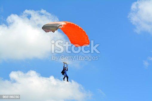istock Parachute landing 955186230