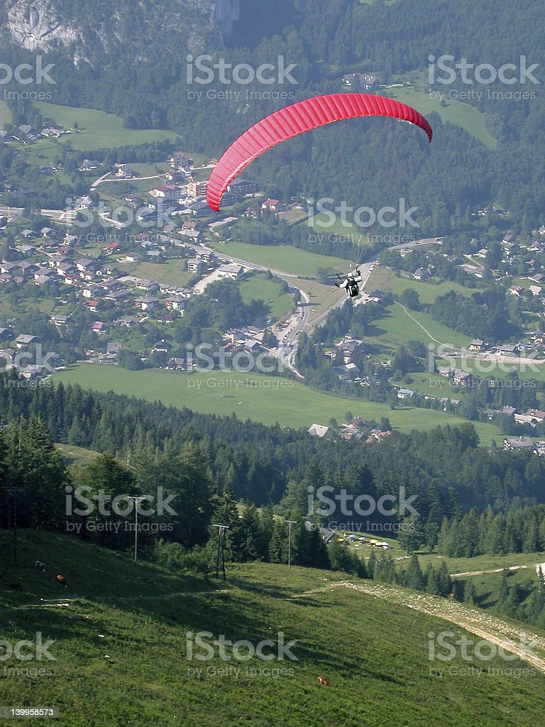 Parachute on St Gilgen royalty-free stock photo