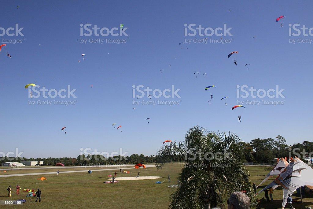 Paracadute su Deland foto stock royalty-free