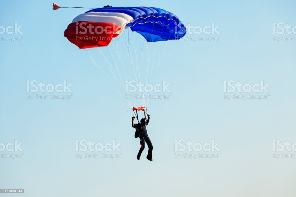 Parachuter royalty-free stock photo
