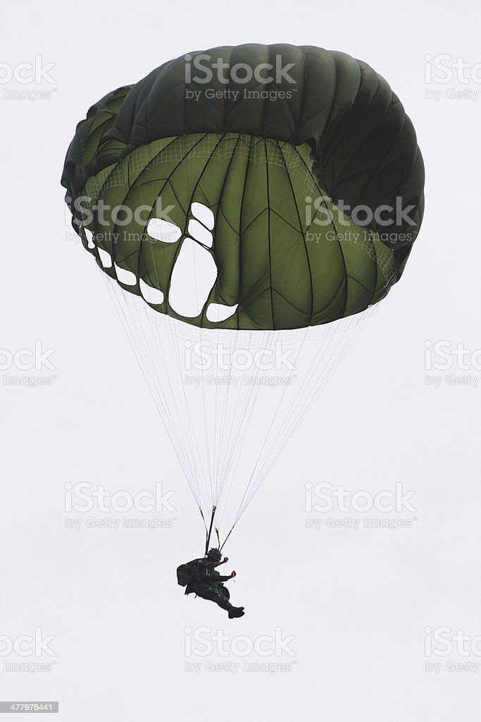 Parachute special forces royalty-free stock photo