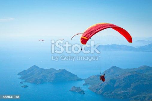Paragliding at Fethiye Oludeniz.