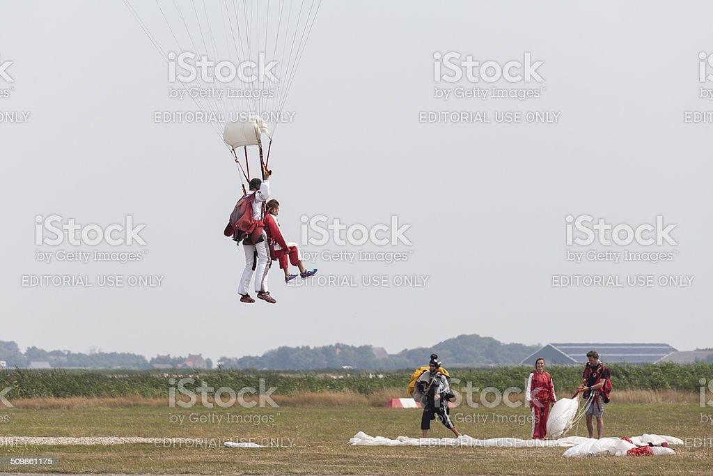 Parachuting stock photo