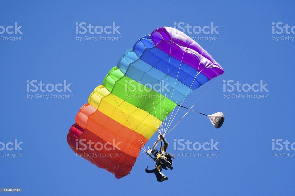 parachuting royalty-free stock photo