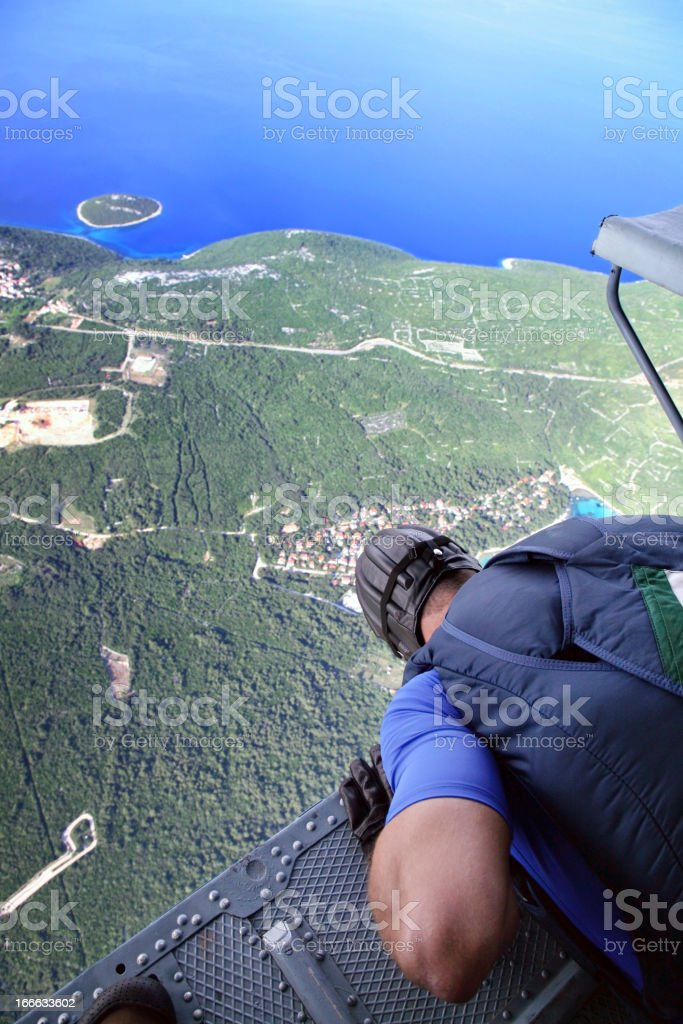Parachutist before jump royalty-free stock photo