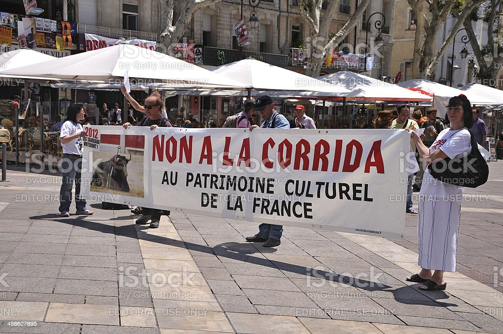 Parade against the bullfight royalty-free stock photo