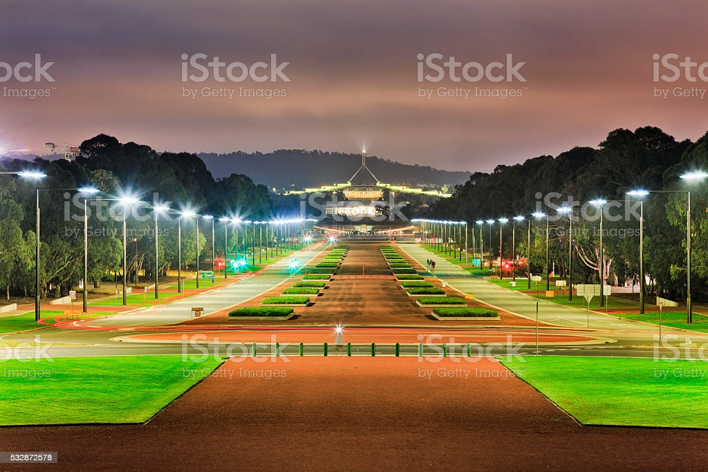 CAN ANZAC Parade along dark stock photo