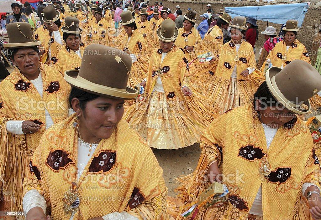 Parade at Laja Festival stock photo